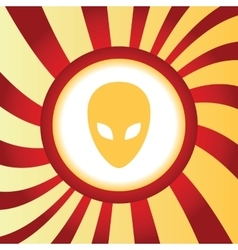 Alien abstract icon vector