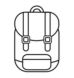 backpack icon outline line style vector image