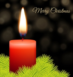 Candle and fir vector image
