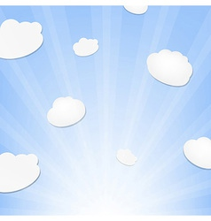 Cloud And Sunburst vector image
