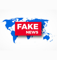 fake news hoax concept vector image vector image