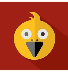 Modern Flat Design Bird Icon vector image vector image