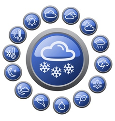 Weather buttons vector image vector image