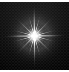 white glowing transparent brightly light vector image vector image