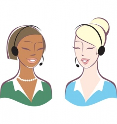 customer support operators vector image