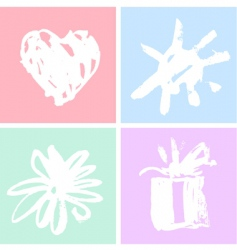 frames with watercolor vector image vector image