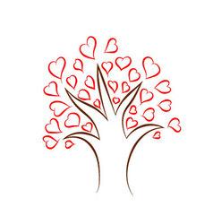 Heart Tree vector image vector image