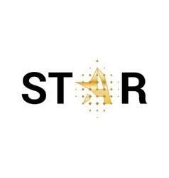 Logo star Logo letter A in the shape star vector image