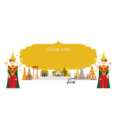 thailand landmarks traditional dance frame vector image vector image