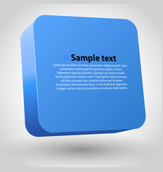 three-dimensional box vector image