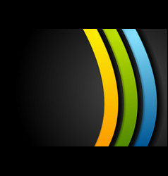 colorful curved stripes abstract background vector image vector image