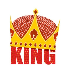 Gold Crown with diamonds Crown for King Ro vector image vector image