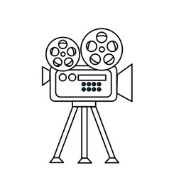 Line movie camera to projection scene vector