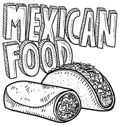 Mexican food vector image