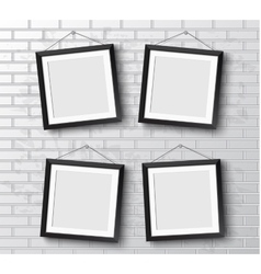 Set Realistic frame Perfect for your vector image vector image