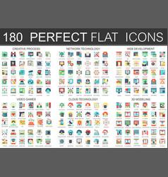 180 complex flat icons concept symbols vector