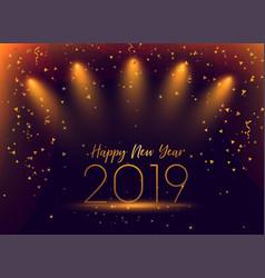2019 new year celebration confetti background vector