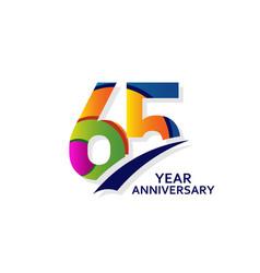 65 years elegant anniversary celebration template vector
