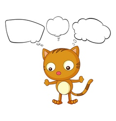 A young cat with empty thoughts vector image