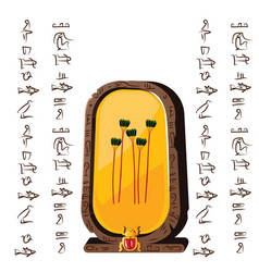 Ancient egypt stone board clay plate vector