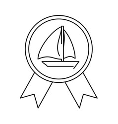 award sport medal vector image