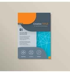 background of modern material design vector image