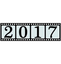 banner 2017 film strip vector image
