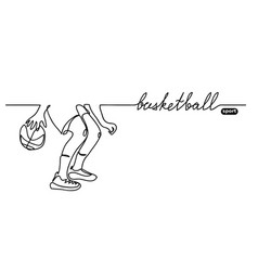 Basketball background simple sketch vector