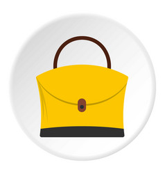 Big bag icon circle vector