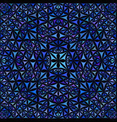 Blue seamless abstract curved shape kaleidoscope vector