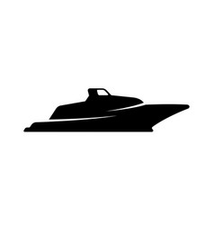 boat silhouette vector image