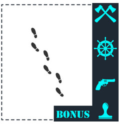 bootprints icon flat vector image