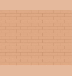 Brown brick wall flat isolated vector