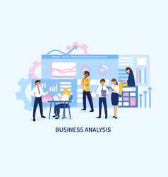 Business analysis concept with statistical charts vector