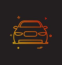 car transport van icon design vector image