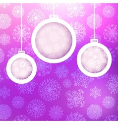 Christmas ball made of snowflakes EPS8 vector image