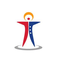 Classic circus clown logo vector
