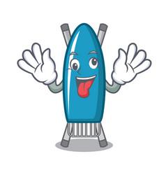 crazy iron board mascot cartoon vector image