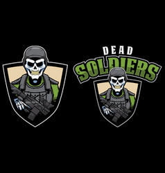 dead soldiers mascot vector image