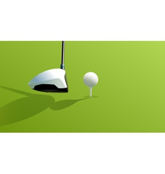 Driver and ball vector image