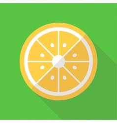 Flat design lemon slice icon vector image
