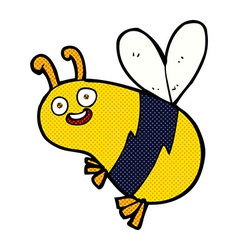 funny comic cartoon bee vector image