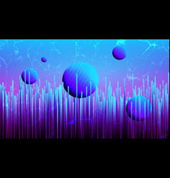 futuristic synthwave background vector image