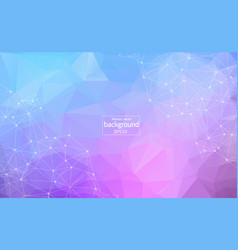 Geometric light purple polygonal background vector