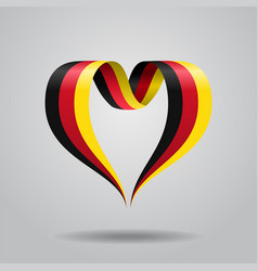 German flag heart-shaped ribbon vector