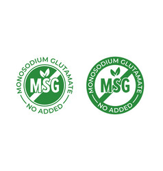 Glutamate no added icon contain no msg monosodium vector