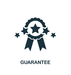 guarantee icon symbol creative sign from vector image
