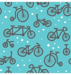 Hand drawn bicycle pattern vector