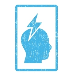 Headache Icon Rubber Stamp vector