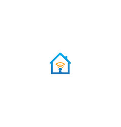 house signal technology logo vector image